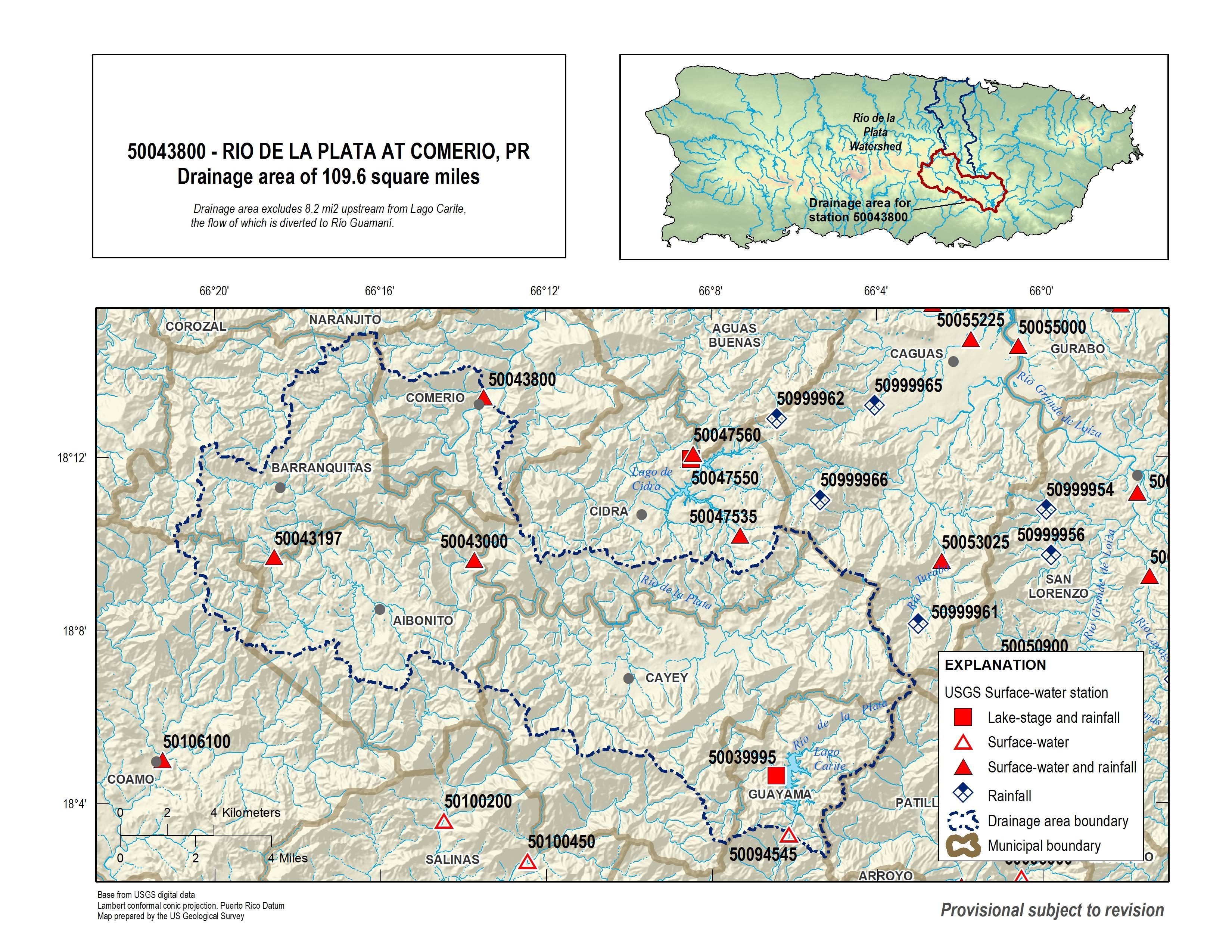Usgs Current Conditions For Usgs 50043800 Rio De La Plata