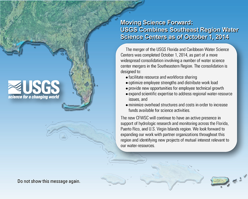 USGS combines Southeast Region Water Science Centers